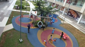 Top view of the playground