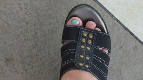 My stubby toes and cute wedge