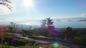The view of Taal lake from Tagaytay