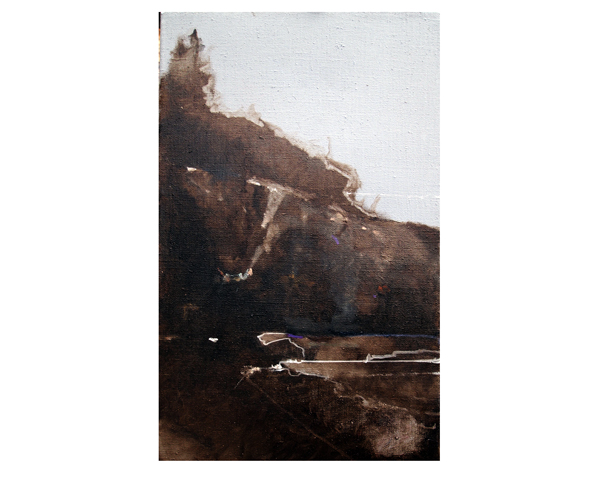 oil on linen, van dyke brown under-painting, Acadia National Park