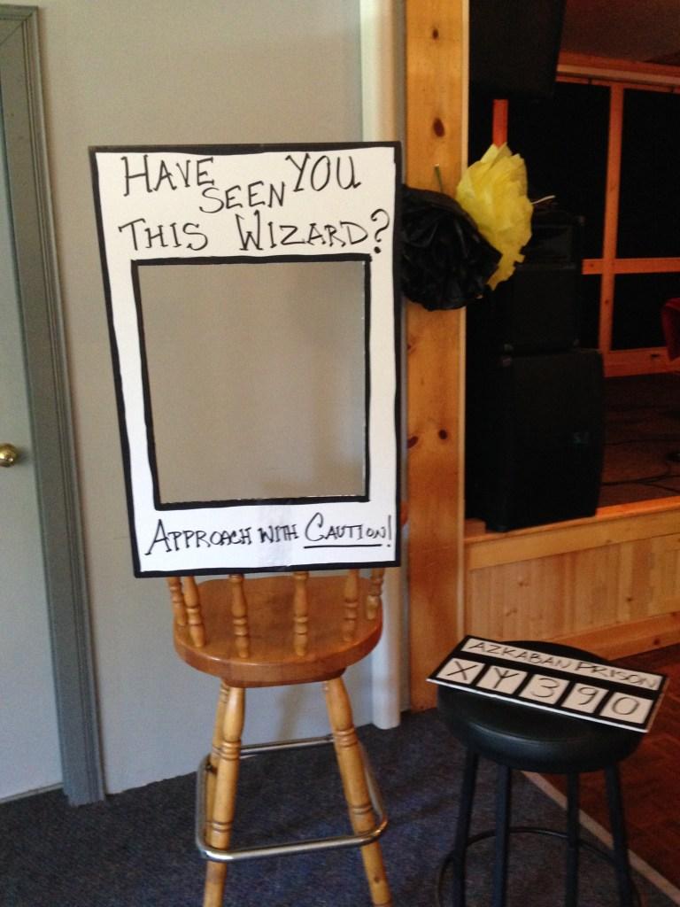 Azkaban Photo Booth, DIY, Harry Potter Party, Hogwarts Party