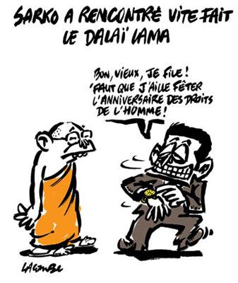 Sarkozy Dalaï Lama