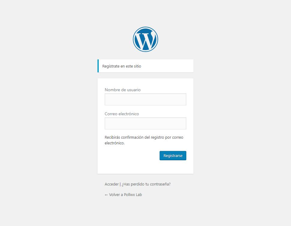 pollwx-lab-wordpress-registration-page