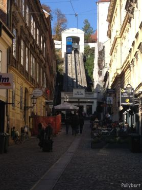 one of the shortest funicular in the world connects upper and lower Zagreb