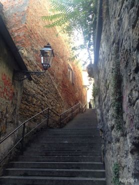 part of the stairs to the upper city @Zagreb