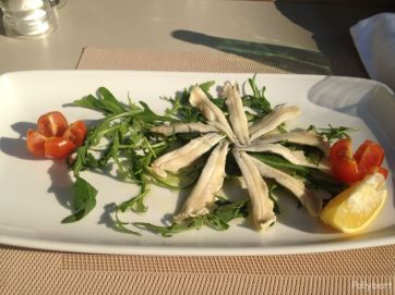 alici with rucola @Korcula restaurant in Zagreb