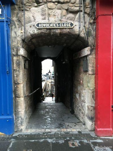 one of the many Close right off Royal Mile @Edinburgh, Scotland