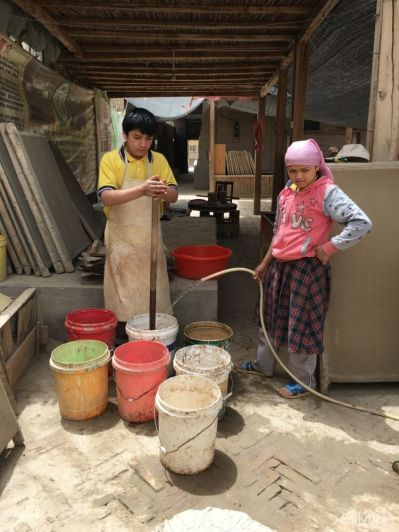 Mulberry paper making manufacture @Hotan