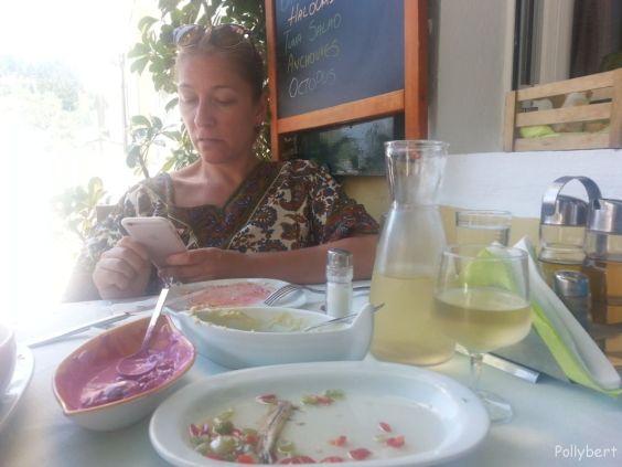 Pollybert after lunch @Lakka