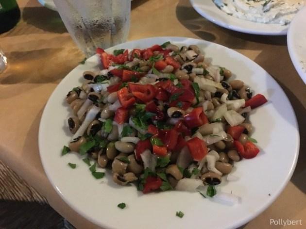 black eyed bean salad @Paros