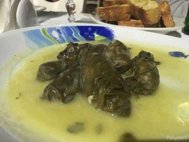 dolmades in lemon sauce @Naoussa