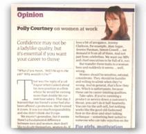 Guardian - Women at work - http://www.theguardian.com/money/2006/oct/21/careers.work1