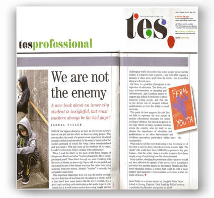Times Education Supplement - Feral Youth