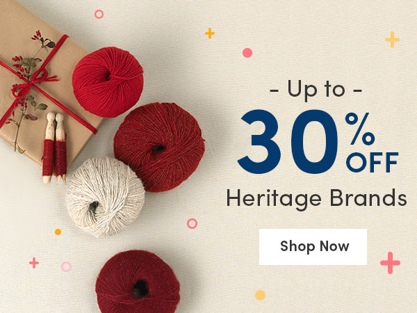 Up to 30% off Heritage Brands at LoveCrafts today