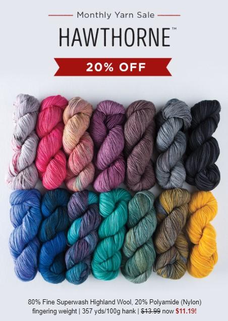 20% off Hawthorne at Knit Picks