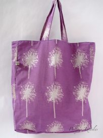 Handmade purple tote bag