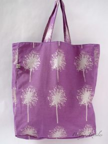 Handmade purple tote bag