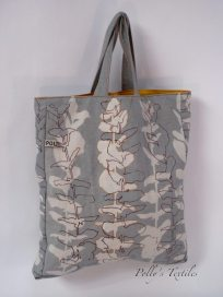 Grey tote In Eucalyptus Design.