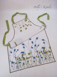 White linen apron
