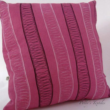 Plum Linen handmade cushion