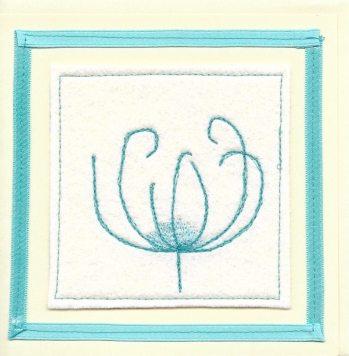 handmade card with flower design