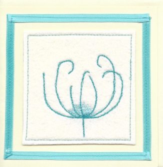 handmade card with flower design