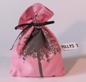 Pink handmade lavender pouch
