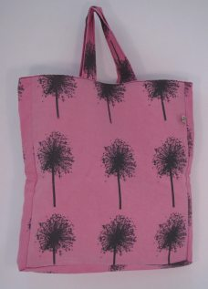 Handmade Pink square tote bag