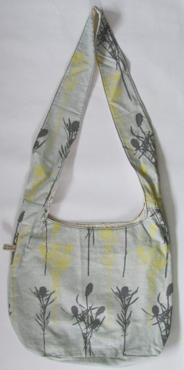 grey and yellow bags