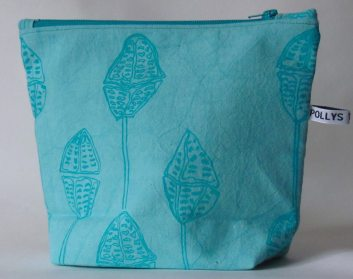 Hand printed wash-bags