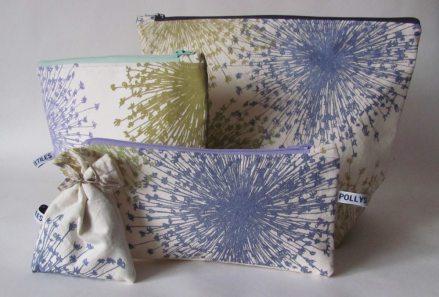 olive handmade wash-bags