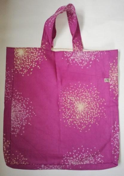 purple handmade bags