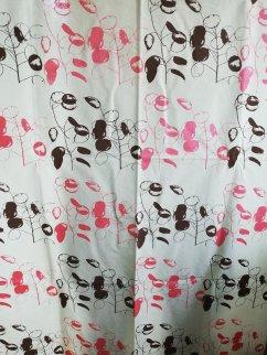 Honesty design on undyed cotton