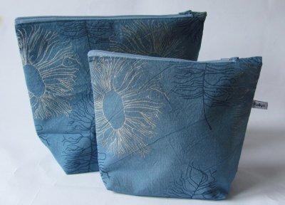 blue make-up bag