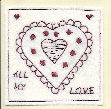 handmade love heart cards