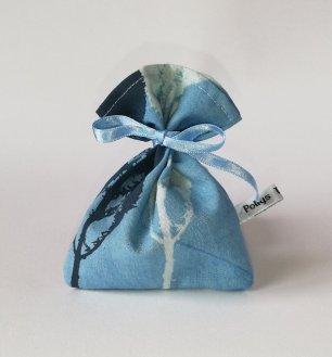 blue handmade lavender pouch