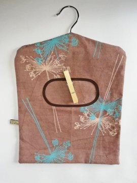 brown hanging peg bags