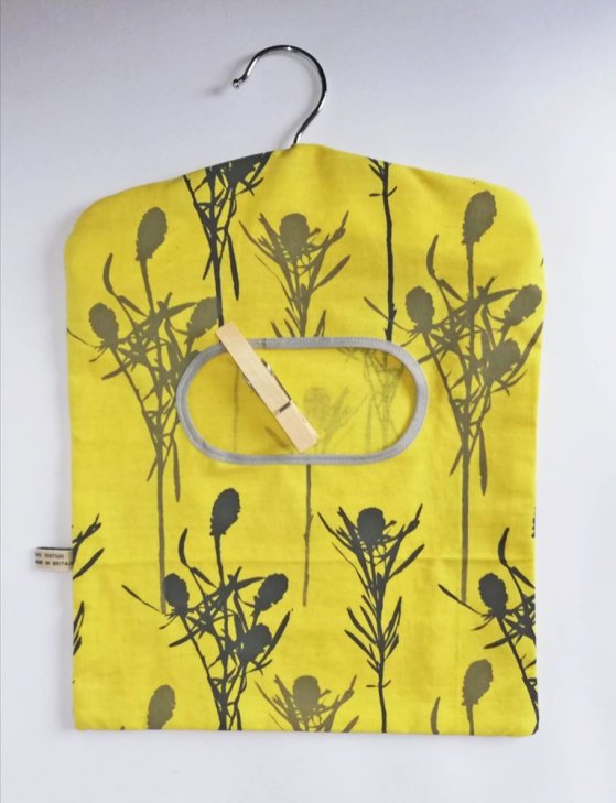 yellow peg bags made in england