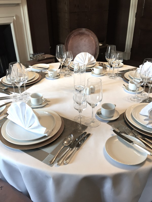 Silver Service Table Setting