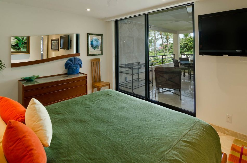 Polo Beach Club #408 - Master Bedroom with sliding glass door