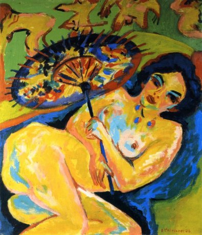 Mujer con paraguas / Ernst Ludwig Kirchner