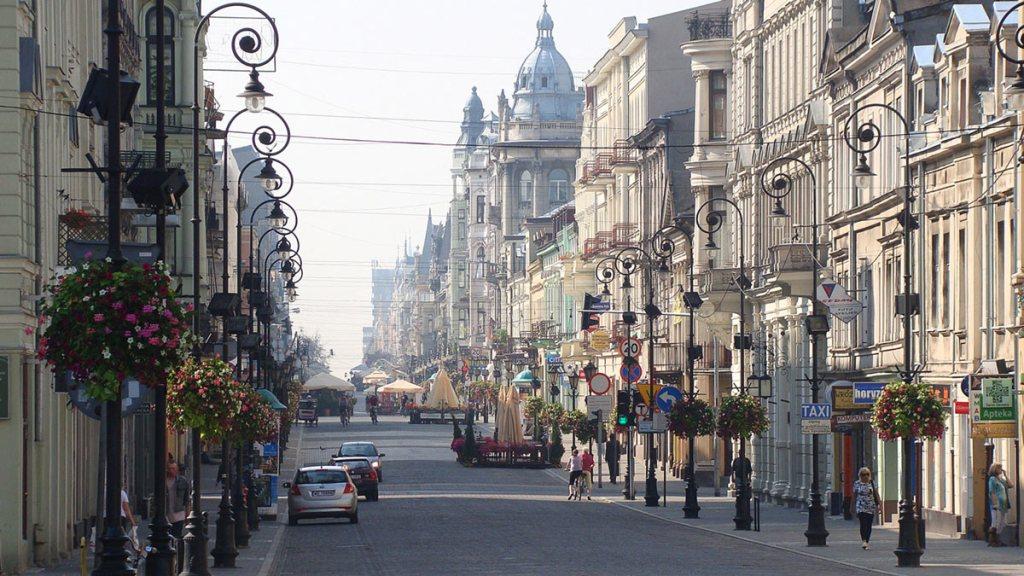 Łódź - rue Piotrkowska