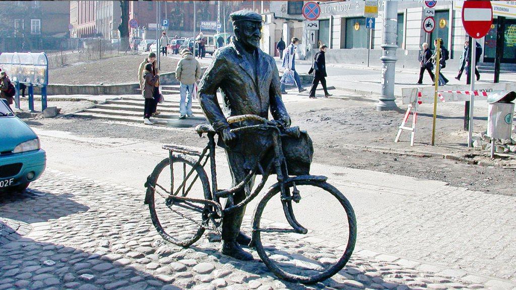 Poznań - la statue du cycliste