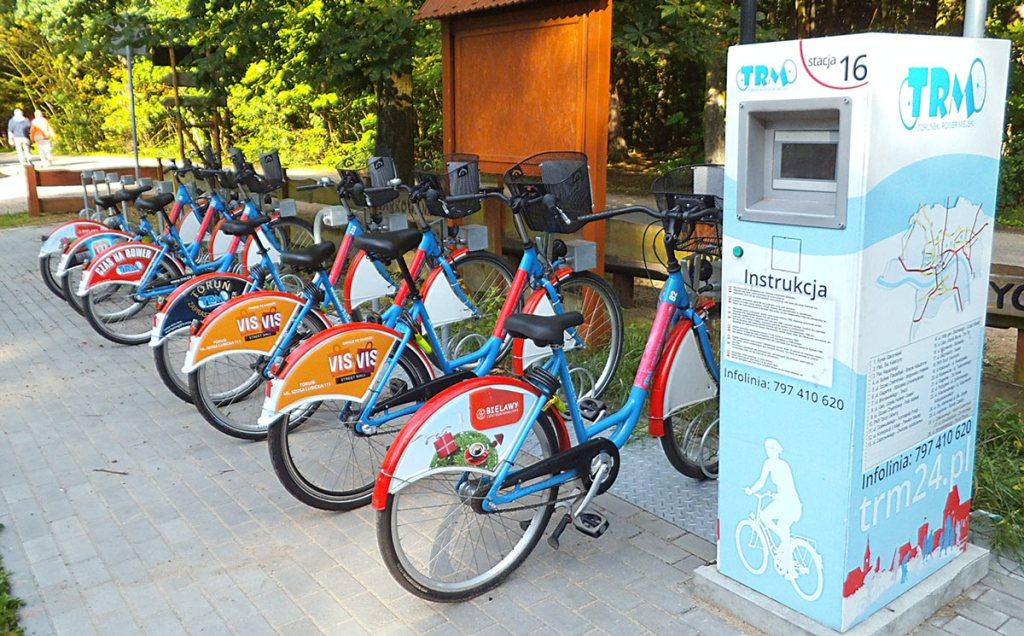 Toruń – vélos en libre-service
