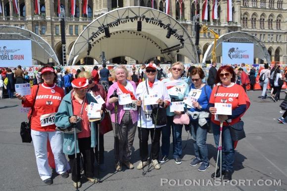 16. Österreichischer Friedenslauf i V Marsz Nordic Walking Studentów UTW 2017