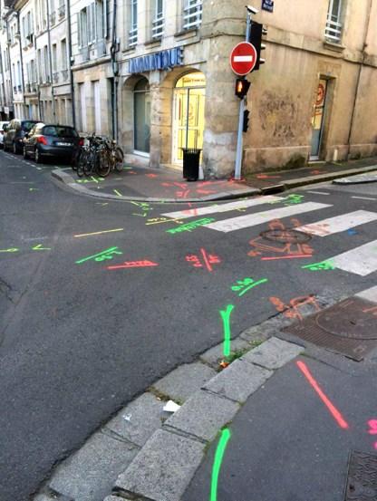 Caen - marquages pour les réseaux de gaz