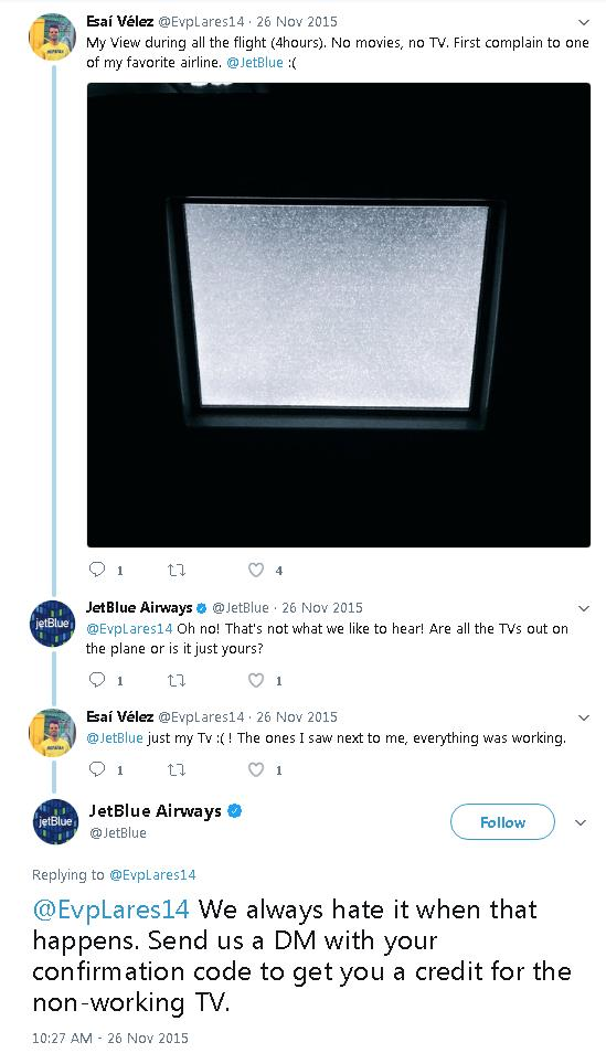 JetBlue great CS example