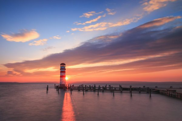 Sunset at the Lighthouse Podersdorf