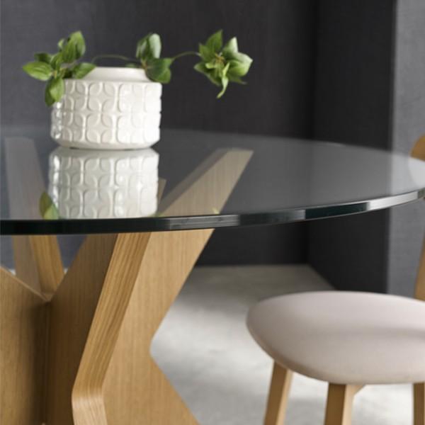 mesa comedor cristal nogal gavin mueble spolque