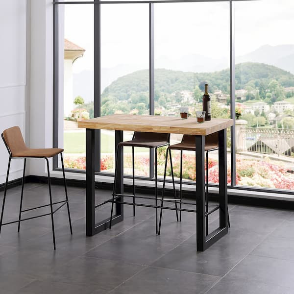 mesa alta rectangular estilo industrial muebles polque